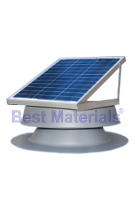 Solar Powered Attic Fan, Flat Base, 24W, 1339 CFM (specify COLOR)