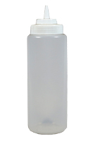 32 oz. Plastic Squeeze Bottle, Wide Mouth