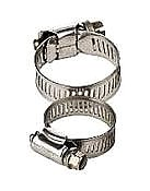 #40 Hose Clamp, All Stainless Steel Marine Grade, 1-1/2 to 3 inch