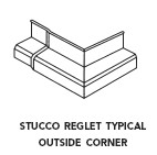 Fry Reglet O STX, Stucco Over Block Outside Corner Flashing, Galv