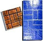 New Basket Weave Brick Pattern Concrete Stamp