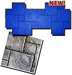 Tetra Stone Pattern Concrete Stamp