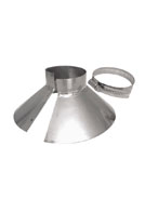 SBC Umbrella Flashing w/Clamp, Fits 1-1/4 inch Pipe, Stainless Steel