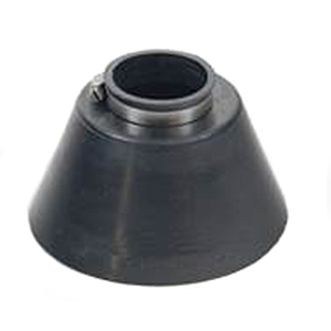 Conduit Pipe Flashing / Storm Collar, 1.25 inch (1.6 ID) - ASI # 701025, 2-inch Conduit Pipe Flashing / Rain / Storm Collar. 1.6 inch ID fits 1-1/4 inch NOMIMAL size pipes. Base is 5 wide x 3.3 inches high heavy-Duty 0.24 inch thick Black EPDM. Includes Stainless Steel Pipe Clamp. Price/Each.