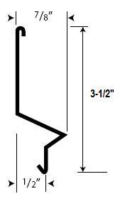 Fry Reglet Stx 3 1 2 Stucco Flashing Reglet 24 Ga Galv