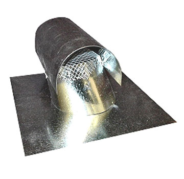 6 in. Galvanized T-Top Roof Vent, Standard Base, Screened - 6 inch Size Galvanized Steel T-Top Vent, Standard Base has 4 inch Flashing Around Cone, with Screen. Price/Each. (UPS shipment only)