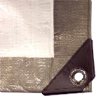 10 ft. x 10 ft. Heavy Duty UV Grade Gray/White Tarps (case of 10)