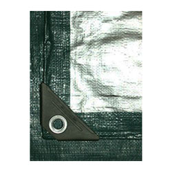 100 x 100 Green-Silver HD UV Tarp - 100 X 100 HEAVY DUTY, 12X12 WEAVE, UV-GRADE, GREEN AND SILVER TARP. PRICE/EACH (heavy item - truck shipment only, use Freightquote)