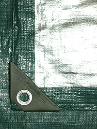 50 X 100 Green-Silver HD UV Tarp - 50