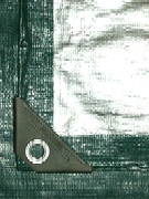 100 x 100 Green-Silver HD UV Tarp