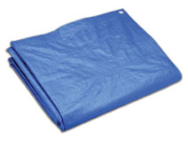 120 X 120 Ft. Blue Tarp, 2.9 Oz. (1) - 120 FT. X 120 FT. BLUE POLY TARP, 2.9 OZ. 8x10 WEAVE, 5-6 MILS THICK. PRICE/EACH. (heavy item; truck shipment only)