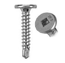 #10 X 1-1/2 inch Pancake Head TEK Screw, Zinc (250) - #10-16 X 1-1/2 inch Pancake Head Sheet Metal Screws, #2 Self Drilling TEK, #2 Square Drive, Zinc Plated Carbon Steel. 250/Bag. Price/Bag. (aka SFS # 1545823 / S4221F)