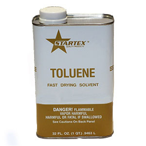 Toluene Solvent, 1-Quart - Toluene Solvent Cleaner. 1-Quart Can. Price/Can. (very flammable item; UPS Ground or Truck Shipment Only; Cannot ship to VOC retricted areas).