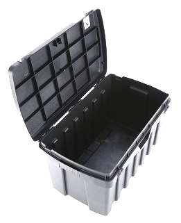 Tool Storage Box, 37x23x20, Reinforced Plastic - Tool Storage Box / Trunk, High Impact Reinforced Plastic, 37 Inches Long x 23 Wide x 20 High, 53 gallon. Fits Walking Welders and other tools. Price/Each. (shipping leadtime 1-2 business days)