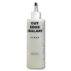 TPO Cut-Edge Sealant, CLEAR, 16 oz Bottle - TPO CUT-EDGE SEALANT, CLEAR SYNTHETIC RUBBER, FOR SEALING EXPOSED TPO EDGES. COVERAGE ABOUT 250 FEET / 16-OZ SQUEEZE BOTTLE. PRICE/BOTTLE. (flammable; UPS Ground or Truck Shipment only)