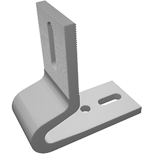 L-Base Standard Roof Mount, 3.5 In. x  3.5 In. Aluminum, Mill Finish - L-Base Standard Roof Mount Bracket for Solar Panels. 3.5 x 3.5 inch Mill Finish Aluminum. Works with all TRA Rails (22x65, 40x40, 40x60) and other major brands. Price/Each.