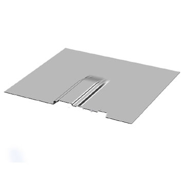 Flashing for L-Base Solar Mount, 9 x  9.91 inch, Aluminum Mill Finish - Flashing, 9 Inch (length) x  9.91 Inch (width) Aluminum, Mill Finish. For TRA L-Base / Flush Mount Solar Mount Brackets. Price/Each. (7 Day Lead Time For Shipping).