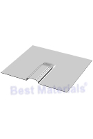 Flashing for L-Base Solar Mount, 9 x  9.91 inch, Aluminum Mill Finish