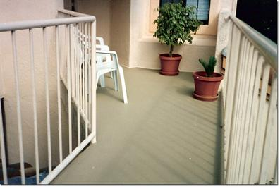 Deck coatings waterproofing coatings for decks balcony parking garages basements for Exterior polyurethane for decks