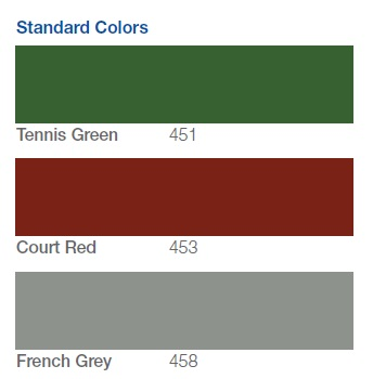 Tennis Court Colors