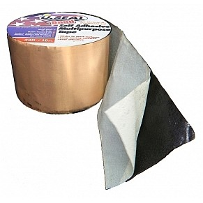 U Seal 4 Inch X 33 Ft Copper Faced Flashing Tape 3 Rolls
