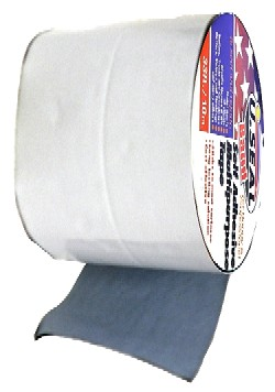 U.Seal 4 in. x 33 ft. WHITE Color Aluminum Faced Roof Tape - U.SEAL (U-Seal) WHITE COLOR ALUMINUM FACED, PEEL/STICK ROOF TAPE, 4 INCHE WIDE x 33 FT. LONG x 60 MIL THICK. PRICE/ROLL. (do not use on EPDM or PVC substrates; shipping leadtime 1-3 business days)