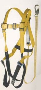 Ultra-Safe Aerial Lift Harness with Attached 6