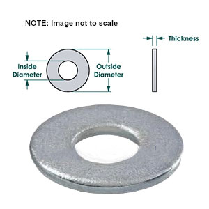 USS, Flat Galvanized Steel Washer 1/4 Inch (100) - USS, FLAT GALVANIZED STEEL WASHER 1/4 INCH, 0.065 INCH THICK, STEEL, ZINC FINISH. 100/BAG. PRICE/BAG.