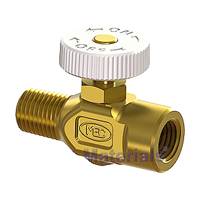 Propane Torch Flame Adjusting Needle Valve, 1/4 FNPT/MNPT - Propane Flame Adjusting and Shut Off Valve / Needle Valve, 1/4 MNPT x 1/4 FNPT. Made of all Brass with Aluminum Knob. Price/Each. (aka MEC # ME481)