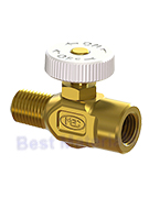 Propane Torch Flame Adjusting Needle Valve, 1/4 FNPT/MNPT