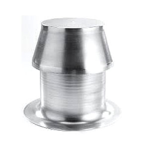 Aluminum Medium Capacity, ONE-Way Breather Vent - ONE-Way Breather Vent, Aluminum, Medium Capacity, 9-1/2 High, 10 OD Flange, 6-1/2 Inch ID Base Opening. Removeable Top. Price/Each. (model MC-VENT-EH; shipping leadtime 2-3 days)