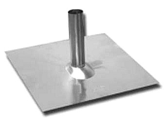 2 inch Aluminum Tube Pipe Flashing (jack) - 2 inch Aluminum Tube Pipe Flashing (jack), 2 inch diameter x 10 inch Tall Tube welded to a 20 x 20 x .020 inch thick Dead-Soft Aluminum Base (fits shingle or tile roos). Price/Each.