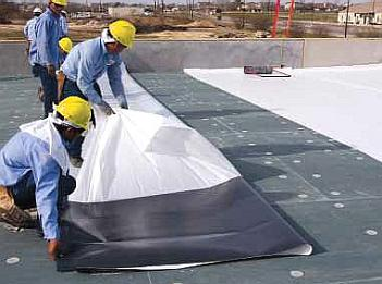 TPO P/S Roofing Membrane, 60 Mil, WHITE (10x100 ft.) - TPO Peel/Stick Self Adhering Roofing Membrane, VersiWeld QA Quick-Applied, 60 milL, WHITE, Reinforced, 10 Wide x 100 Foot Roll. Price/Roll. (special order item; leadtime 2 weeks; 480 lbs, special shipping required)