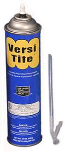 Versi-Tite Expanding Foam Sealant, 24 oz. Straw Cans, Case/12 - Versi-Tite Low Expanding Polyurethane Foam Sealant, UL Rated and with flame retardant. Case of 12, 24 Oz. cans with Straws. Price/Case. (UPS Ground Shipment Only).