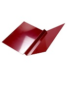18 in. X 10 ft. W-Valley Roof Metal, 24 Ga Kynar (specify COLOR)