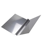 18 in. X 10 ft. W-Valley Roof Metal, 24 Ga Stainless Steel