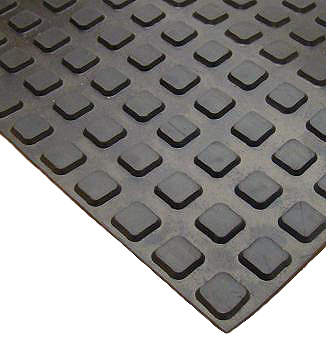 Roof Walkway / Protection Pad, Black EPDM, 30x30 in., HEAVY DUTY Grade - Roofing Walkway / Protection Pad. 30x30 inch Black EPDM roofing walkway pad, HEAVY DUTY grade. Cleats are .66 inch square. Pad has 0.19 inch base thickness with 0.13  raised pattern (about .32 overall). 14.8 lbs each. Price/Each.