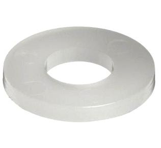Washer, Nylon Flat Washer, .812 x 1-3/4 x .125 inch - Nylon Flat Washer, 0.812 inch ID x 1-3/4 OD, 0.125 Thick. Heavy-Duty Solid 6/6 Nylon Flat Washer. Price/Each.