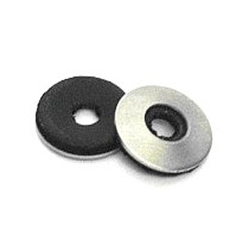 #6 x 3/8 304 Stainless Steel NEOPRENE Bonded Sealing Washer (100) - #6 x 3/8 inch OD 304 Stainless Steel Sealing Washer (#SJN037015X). 20 Gauge 304 Stainless Steel, .065 Bonded NEOPRENE Rubber Seal. Fits #6 screws. 100/Bag. Price/Bag. (UPS shipping only)