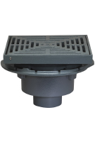 Large Area Roof Drain, 12-3/4 Sq. Promenade Top (specify OUTLET)