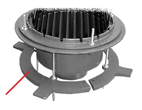 Large Area Roof Drain Cast Dam Ud Clamp Sump Rec