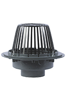 Large Area Roof Drain, 15 in. Cast Iron, Plastic Dome, Select OUTLET
