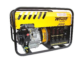 Winco 6000 Watt Generator, Gasoline Powered, Elect. Start - WINCO MODEL WC60000HE, INDUSTRIAL GRADE 6000 WATT GENERATOR (5500W Continuous), GASOLINE POWERED, ELECTRIC START. PRICE/EACH. (no air shipments; photo ID AND signature required for delivery; shipping leadtime 1-3 business days)