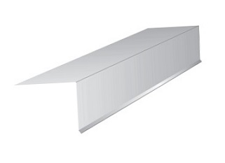 2 in. X 2 in. X 10 ft. Drip Edge, 26 Ga Galv., WHITE - Drip Edge Roof Flashing Metal, 2-inch Face x 2-inch Top x 10 foot with 1/4 kick-out on face. WHITE FINISH 26 Gauge G90 Galvanized Steel. 10 foot piece. Price/Piece.