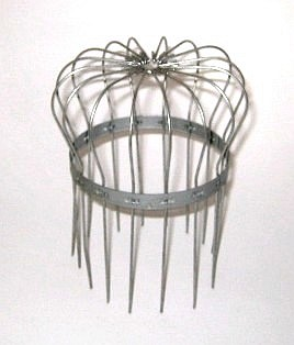 Galvanized Steel Wire Drain Strainer, SELECT Size (1) - Birdcage Wire Drain Strainer, Galvanized Steel. 5 sizes to fit pipes from 2 to 6 inch nominal pipe sizes. Price/Each. (SELECT SIZE before adding to cart)