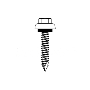 1/4 x 2-1/2 HWH ZAC Metal-To-Wood Screw, Milled Point,, Seal (250) - 1/4-14 X 2-1/2 In., 3/8 In. HWH ZAC (ZINC ALUMINUM CAPPED), MILLED POINT, WOODGRIP, METAL-TO-WOOD SCREW, SEAL WASHER. 250/BAG. PRICE/BAG. (SFS # A4510-FM)