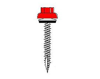 #10 X 2-1/2 HWH ZAC Metal-Wood Screw, Milled Pt, Seal, Painted (250) - #10-15 X 2-1/2, 5/16 HWH ZAC (ZINC ALUMINUM CAPPED) WOOODZAC, HI-LO THREAD, MILLED POINT, METAL-TO-WOOD SCREW, BONDED ALUM. SEALING WASHER, COLOR PAINTED TOP. 250/BAG. PRICE/BAG. (SFS # V1081-DN001; LEADTIME 4-7 DAYS; SPECIFY COLOR BEFORE ADDING TO CART)