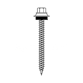 #9 X 3 HWH Woodgrip Screw, Sealing Washer (250) - #9-15 X 3 Inch HWH SHARP POINT SCREW WITH EPDM SEALING WASHER. ZINC + SENTRI FINISH. 250/BAG. PRICE/BAG. (SFS WOODGRIP #V0485-CCF)