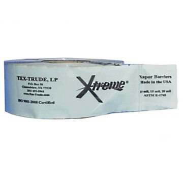 Xtreme Seam Tape, 6 inch x 200 foot Roll (1) - Xtreme Seam Tape for Polyolefin Vapor Barrier Sheet. Seals penetrations. Low Perm Facing with Strong Self-Adhering Polymer-Asphalt Adhesive. Gray, 23 mils thick, 6 inch wide X 200 Foot Roll. Price/Roll. (shipping leadtime 1-3 days)