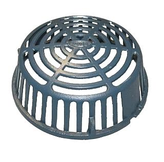12.5 in. Cast Iron Replacement Drain Dome, Zurn Z100 - 12.5 inch OD X 4.5 inch High Cast Iron Replacement Drain Dome, epoxy coated. (aka Zurn #29378 Z100). Price/Each.